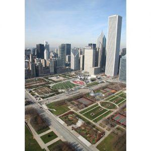 Chicago Postcard: Aerial View of Millenium Park CPC0004