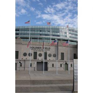 Chicago Postcard: Soldier Field A Patriotic Statement CPC0046