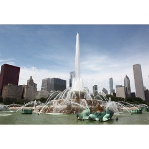 Chicago Postcard: Buckingham Fountain in Grant Park CPC0061