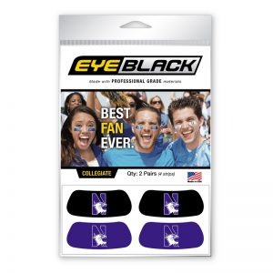 Northwestern Wildcats Set of Two Purple and Two Black Eyeblacks