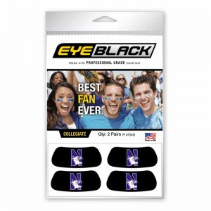 Northwestern Wildcats Set of Four Black Eyeblacks