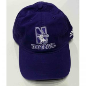 Adult Unconstructed Purple Football Hat