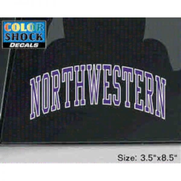 Arched Northwestern Outside Application Decal