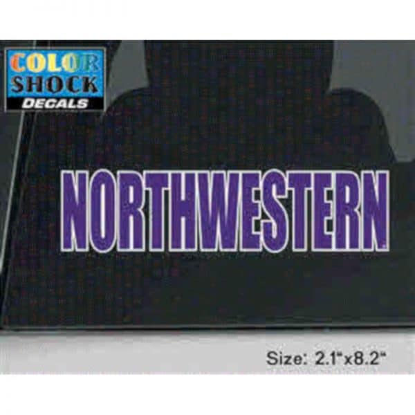 Large Northwestern Outside Application Decal