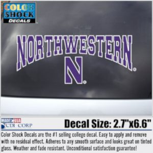 Arched Northwestern Over N Outside Application Decal