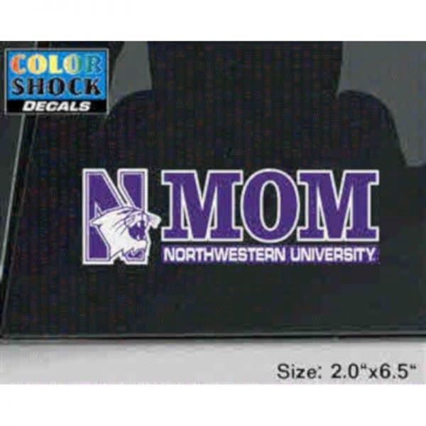Northwestern University Mom Design Outside Application Decal