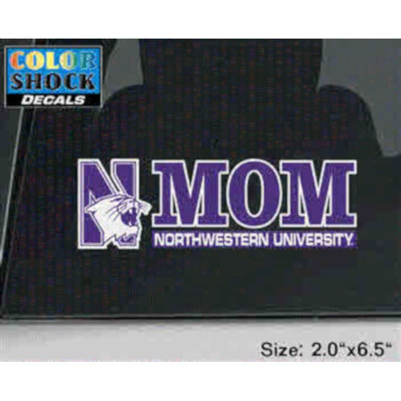 Northwestern University Mom Design Outside Application Decal