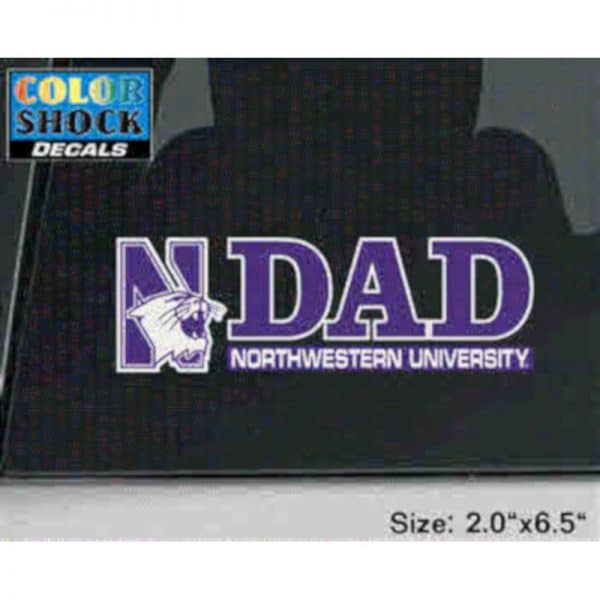 Northwestern University Dad Design Outside Application Decal