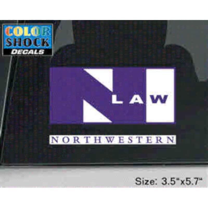 Northwestern University Law Design Outside Application Decal