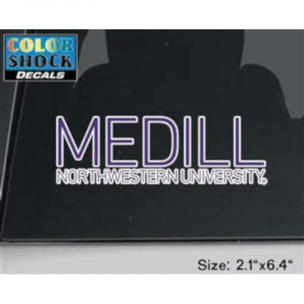 Northwestern University Medill School of Journalisim Design Outside Application Decal