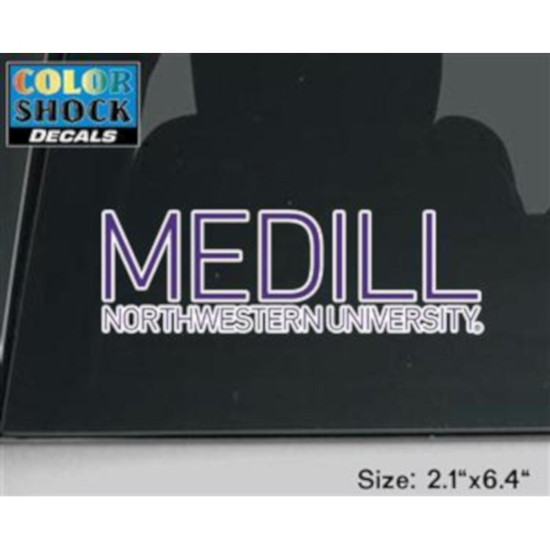 Northwestern University Medill School of Journalisim Design Outside Application Decal