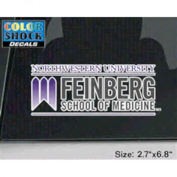 Northwestern University Feinberg School of Medicine Design Outside Application Decal