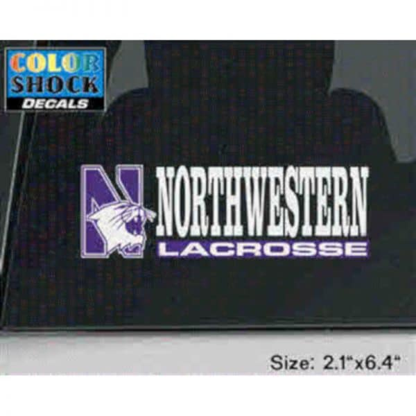 Northwestern University Lacrosse Outside Application Decal
