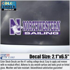 Northwestern University Sailing Outside Application Decal