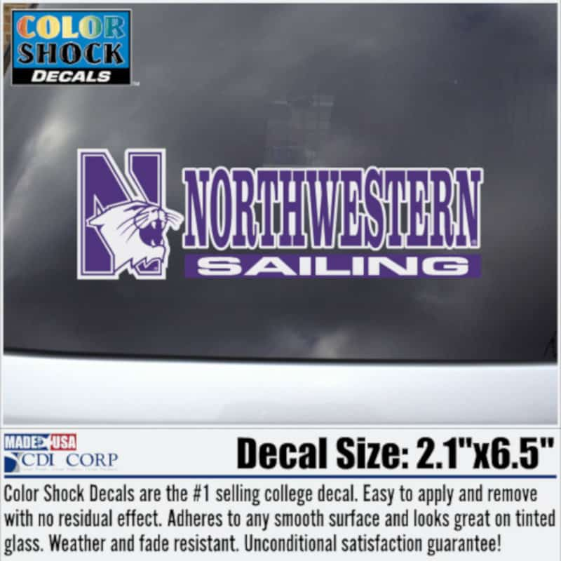 Northwestern University Sailing Outside Application Decal