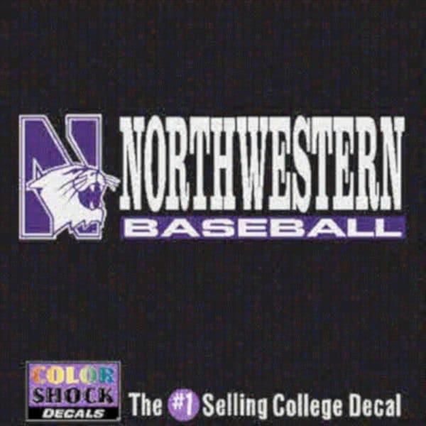 Northwestern University Baseball Outside Application Decal