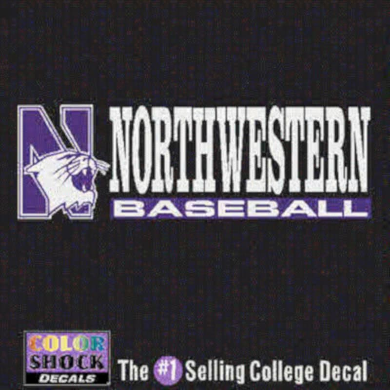Northwestern University Baseball Outside Application Decal