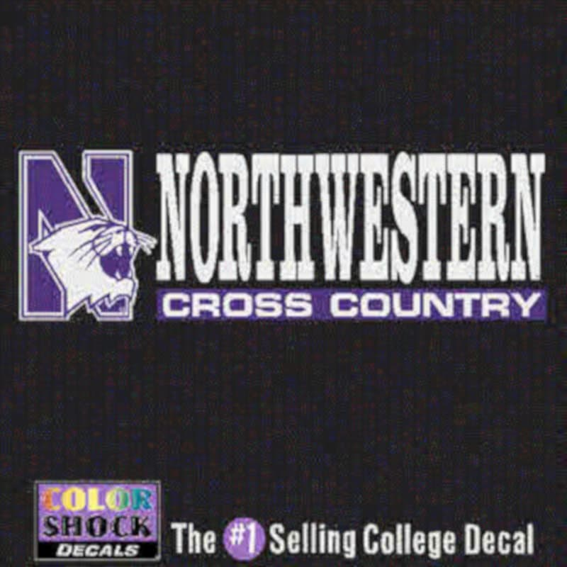 Northwestern University Cross Country Outside Application Decal
