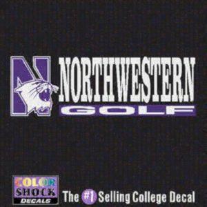 Northwestern University Golf Outside Application Decal
