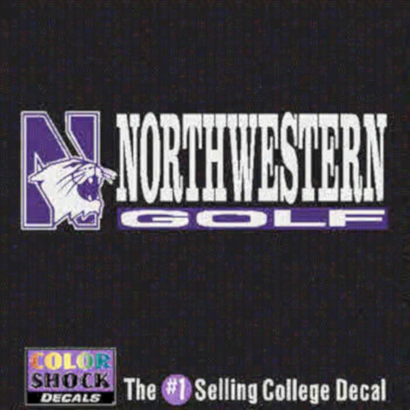 Northwestern University Golf Outside Application Decal