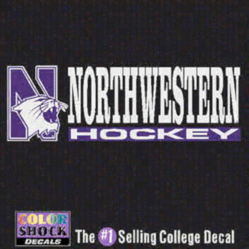 Northwestern University Hockey Outside Application Decal