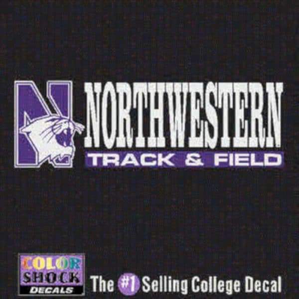 Northwestern University Track & Field Outside Application Decal