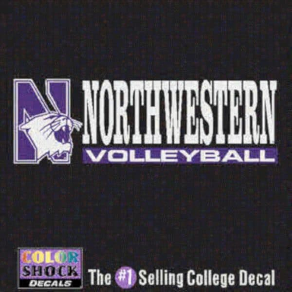Northwestern University Volleyball Outside Application Decal