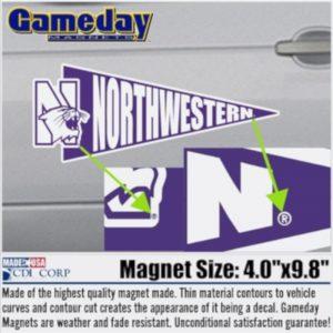 Northwestern University Pennant Shape Magnet
