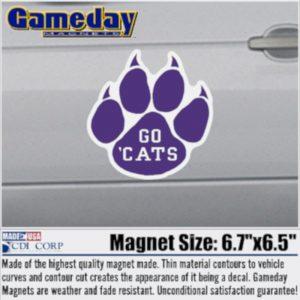 Northwestern University Large Paw Design Go 'Cats Magnet