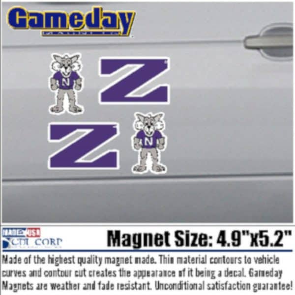 Northwestern University Pack of 4 Small Magnets