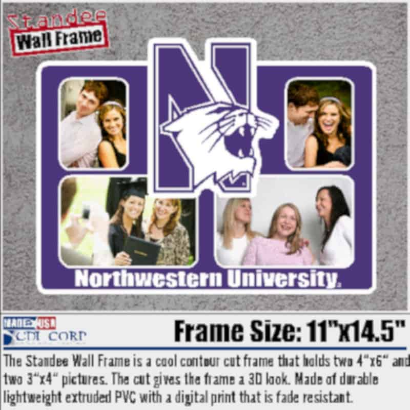 Northwestern University Laser Cut Acrylic Standee Wall Picture Frame