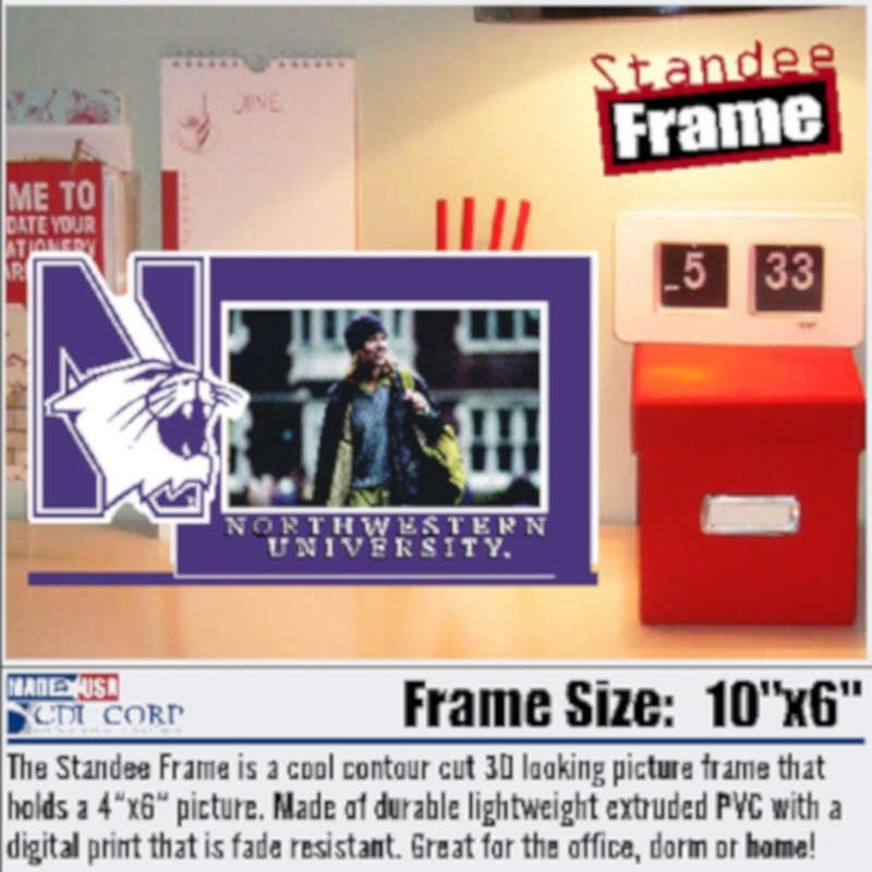 Northwestern University Laser Cut Acrylic Standee Picture Frame