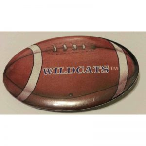 Northwestern University Football Shaped Button with Wildcats Design