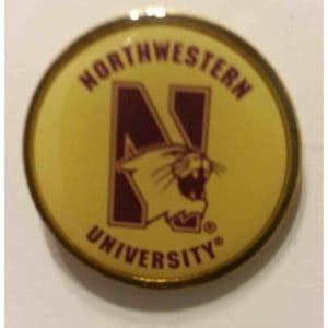 Northwestern University Circled around N-cat Design Lapel Pin