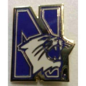 Northwestern University N-cat Design Lapel Pin