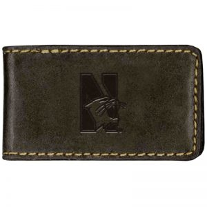 Northwestern Widcats Leather Magnetic Money Clip