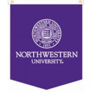 "Northwestern Wildcats Wool Felt Vertical Podium Rafter Banner with Seal Design (18""X24"")"