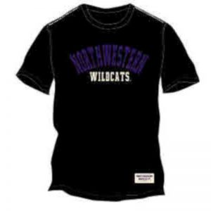 Northwestern Wildcats Colosseum Men's Sewn on Tee Shirt