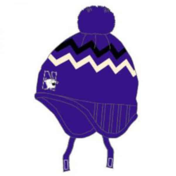 Northwestern University Wildcats Purple Newborn Knit Cap With N-Cat Design