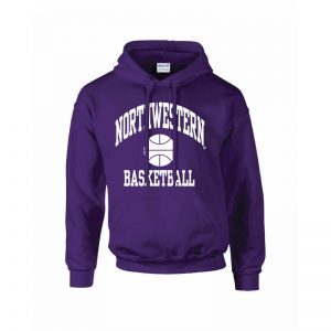 Northwestern Wildcats Youth Purple Hooded Sweatshirt with Basketball Design
