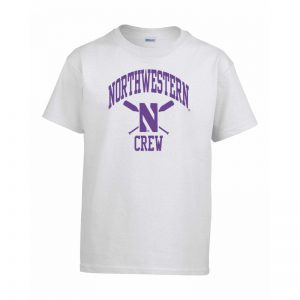 Northwestern Wildcats Youth White Short Sleeve Tee Shirt with Crew Design