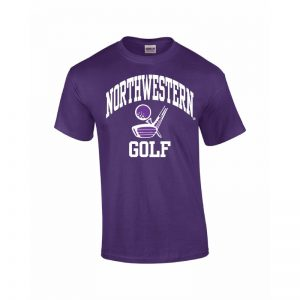 Northwestern Wildcats Youth Purple Short Sleeve Tee Shirt with Golf Design