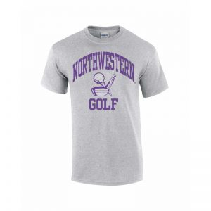 Northwestern Wildcats Youth Grey Short Sleeve Tee Shirt with Golf Design