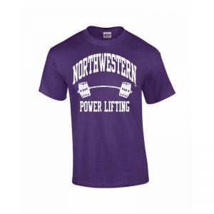 Northwestern Wildcats Youth Purple Short Sleeve Tee Shirt with Power Lifting Design