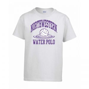 Northwestern Wildcats Men's White Short Sleeve Tee Shirt with Water Polo Design