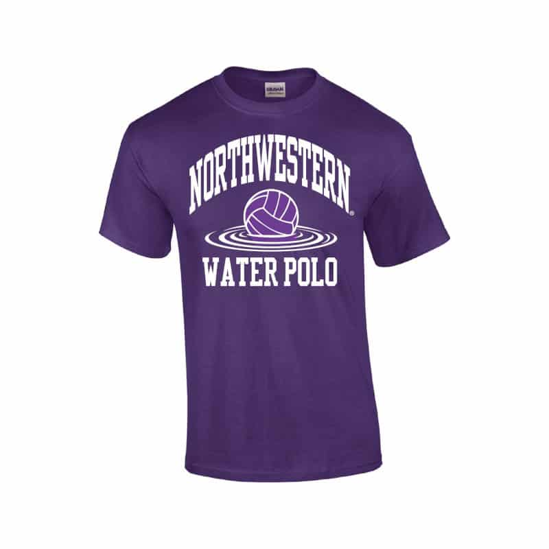 e198c3461 Northwestern Wildcats Youth Purple Short Sleeve Tee Shirt with Water Polo  Design