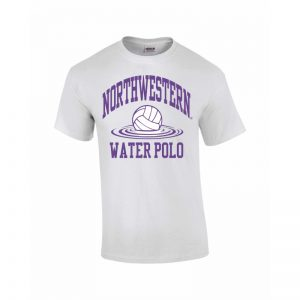 Northwestern Wildcats Youth White Short Sleeve Tee Shirt with Water Polo Design