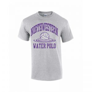 Northwestern Wildcats Youth Grey Short Sleeve Tee Shirt with Water Polo Design