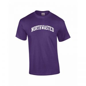 "Adult Purple Short Sleeve Tee Shirt with ""Northwasted"" Design"