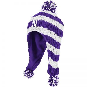 Northwestern Wildcats Youth Tassel Knit Cap
